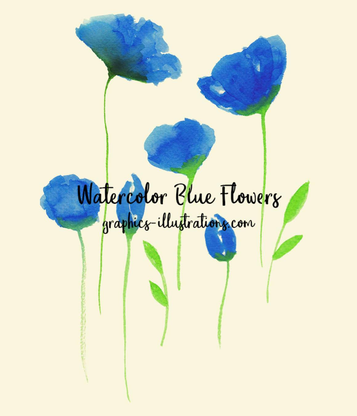 FreeWatercolorBlueFlower2