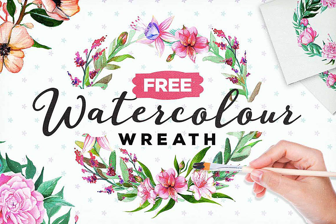 FreeWatercolorFloralWreath1