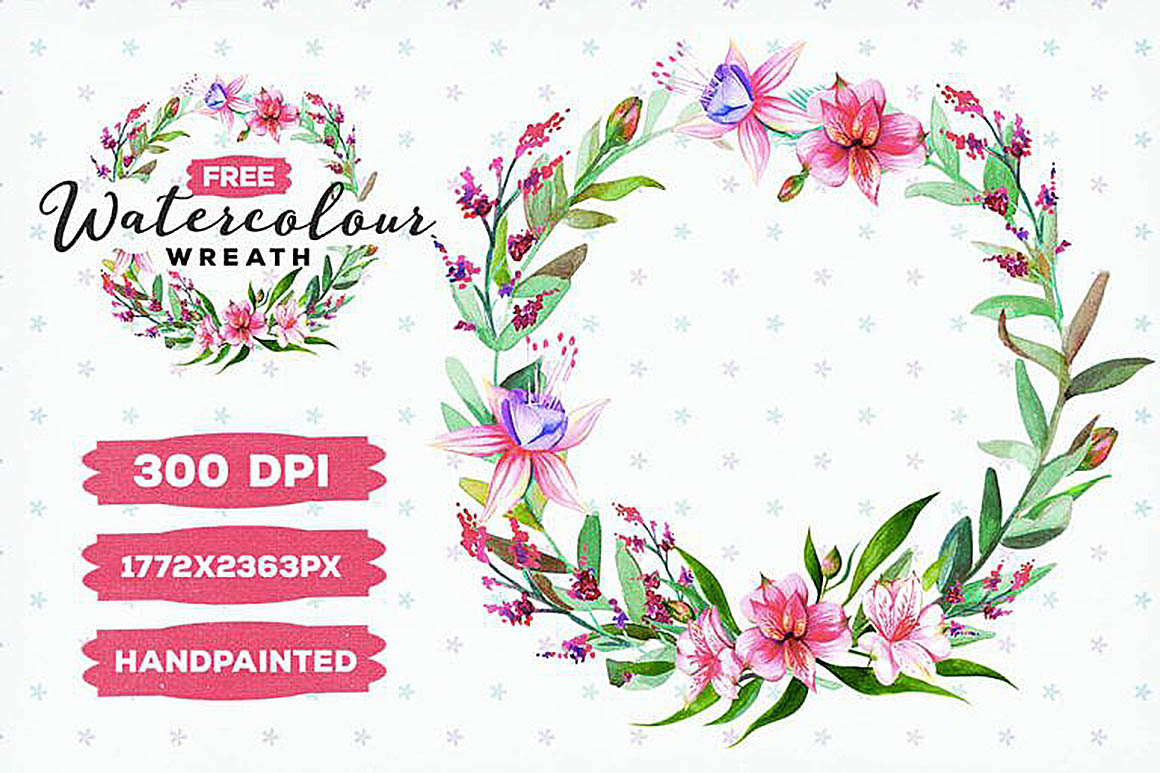 FreeWatercolorFloralWreath2