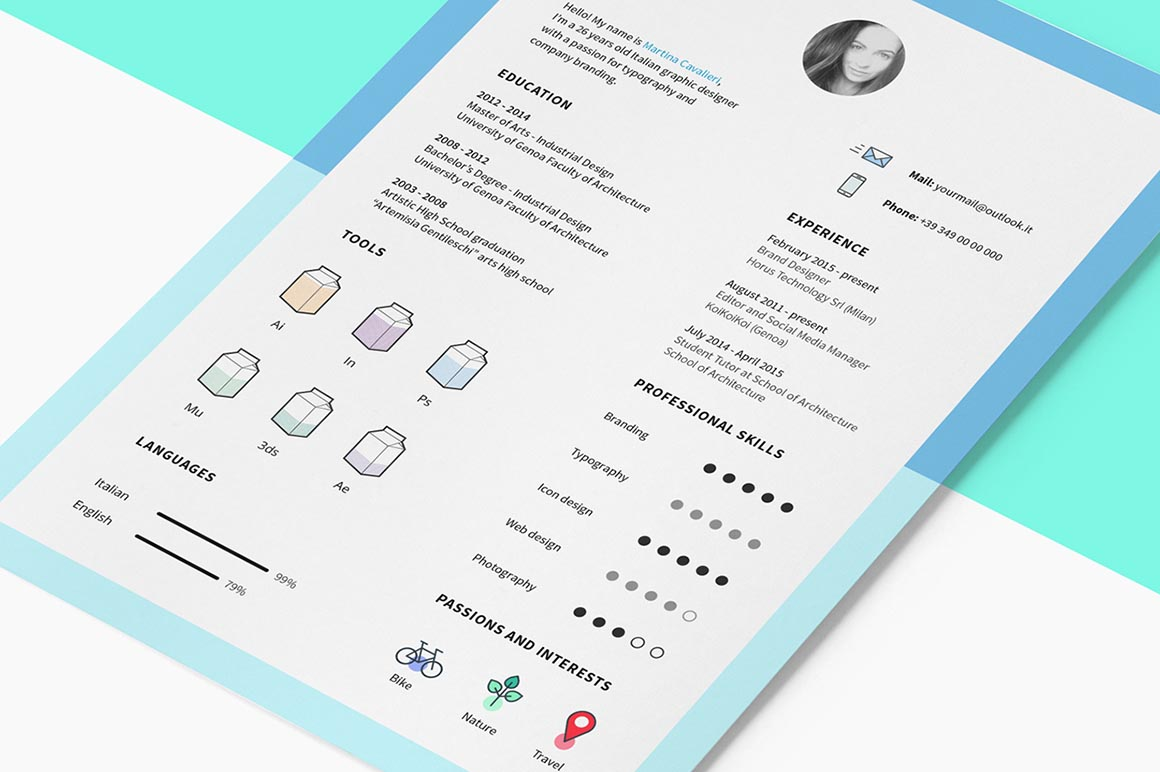 Free Indesign Cv Template  DealjumboCom  Discounted Design