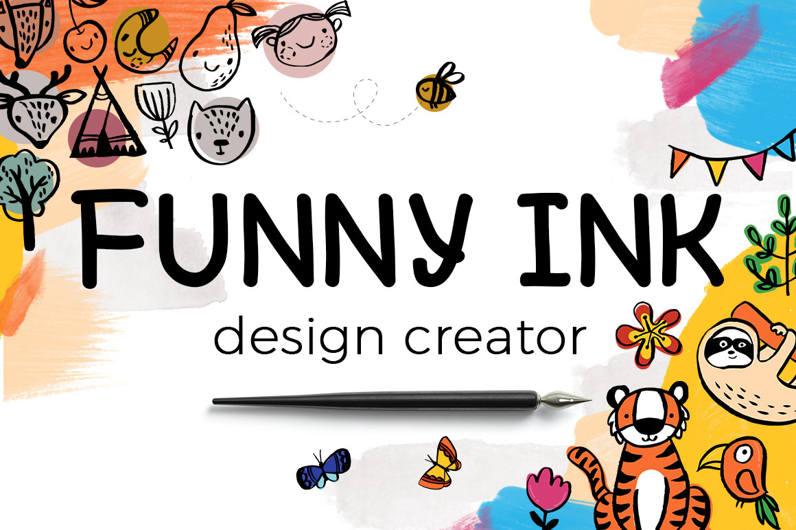 2 cute & nursery style illustration or graphics toolkits in 1 bundle!