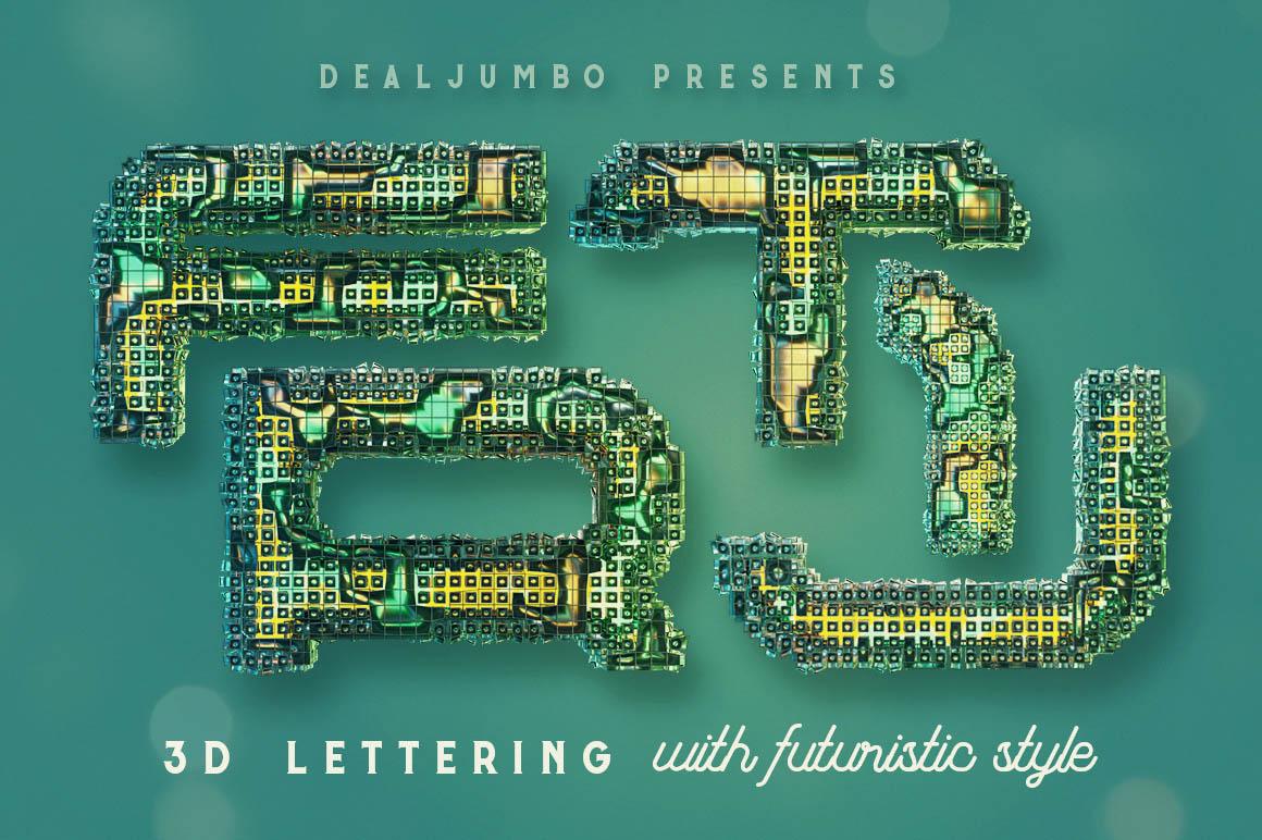 Futuristic-3D-lettering-Dealjumbo-1