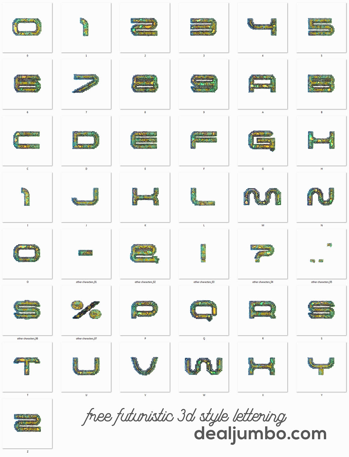 Futuristic-3D-lettering-Dealjumbo-3