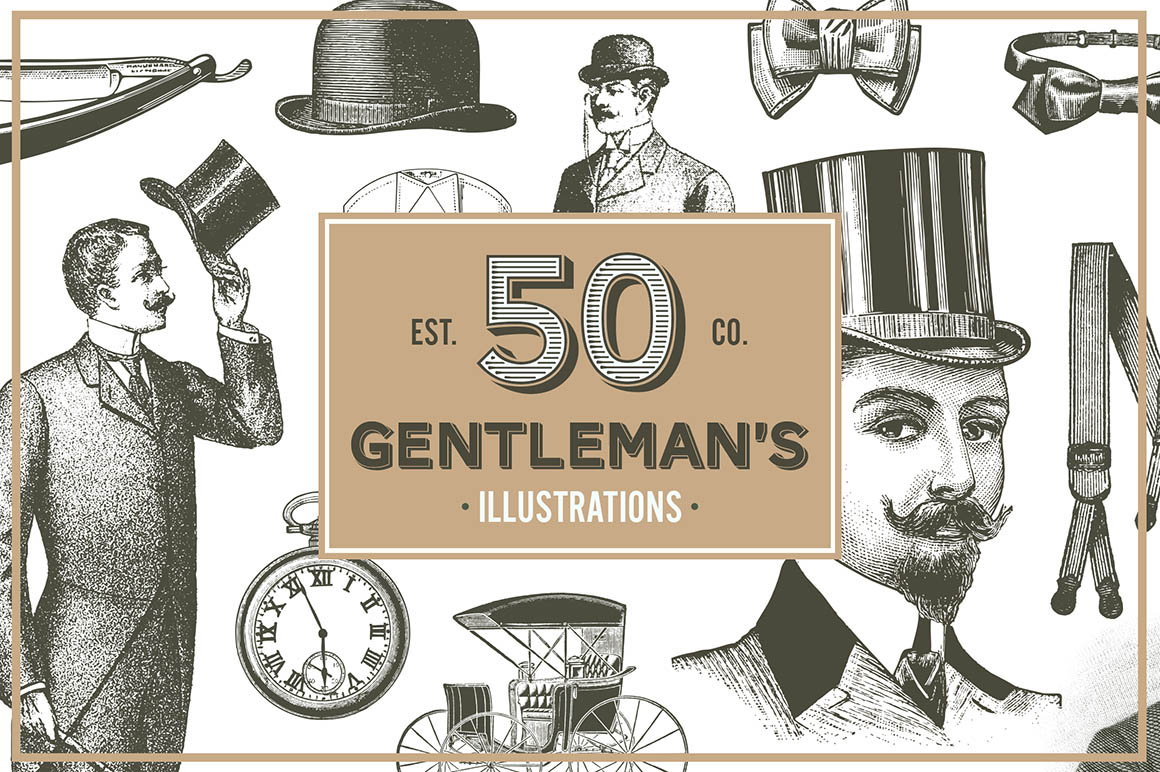 Gentlemans-Vintage-Vector-Illustrations-01