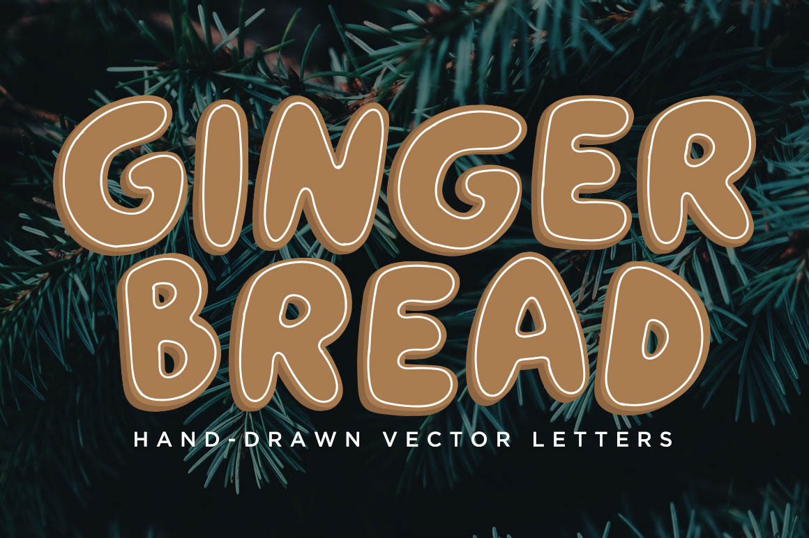 Gingerbread_vector-lettering-free-1