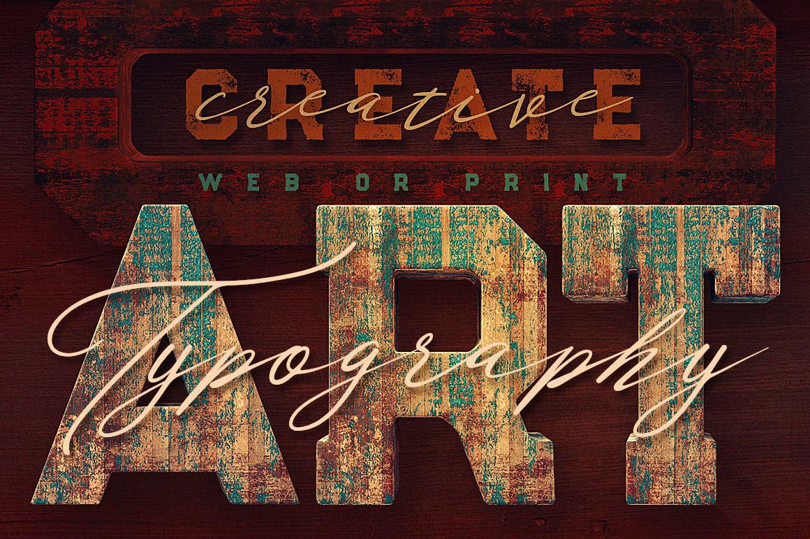 GrungePaintedWood3Dlettering6