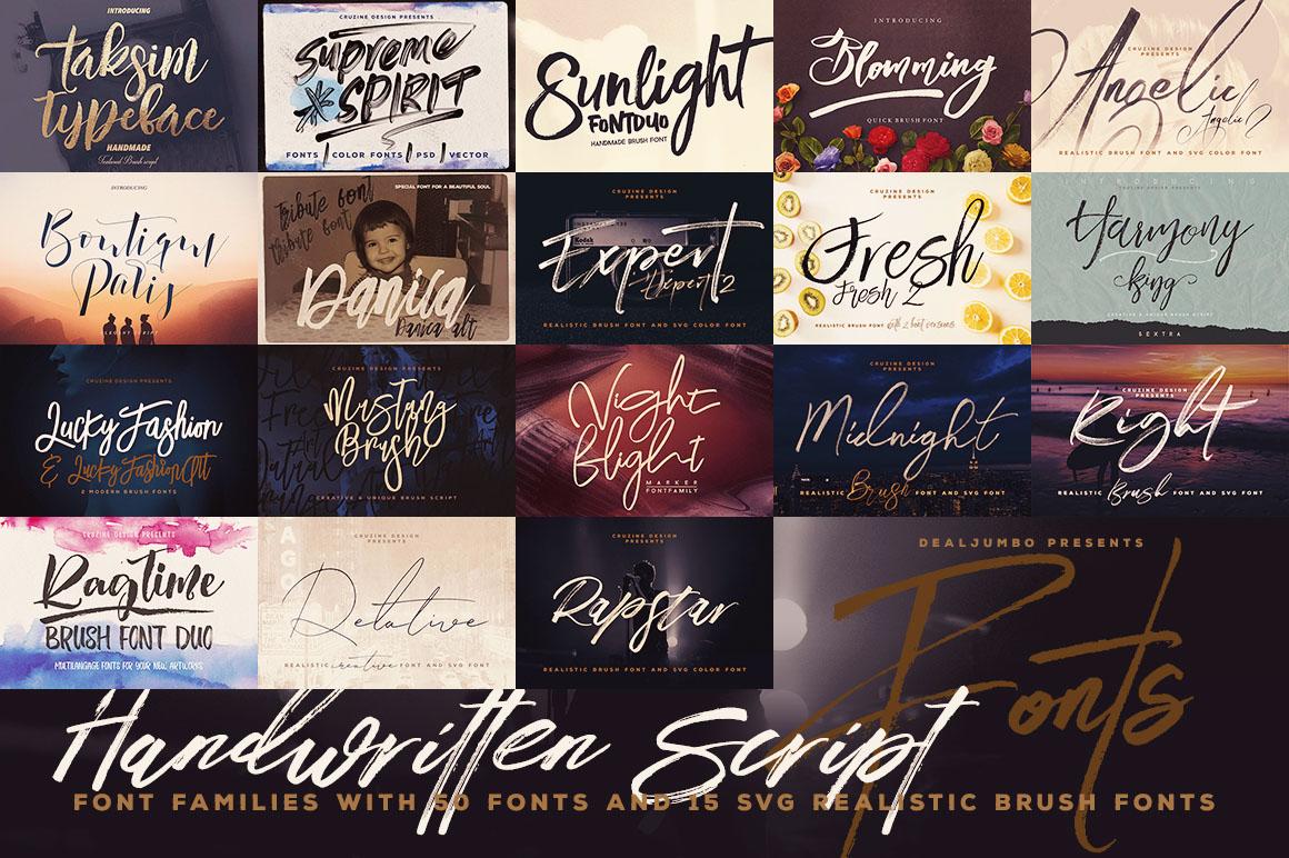 Handwritten Script Fonts - Dealjumbo com — Discounted design bundles with  extended license!
