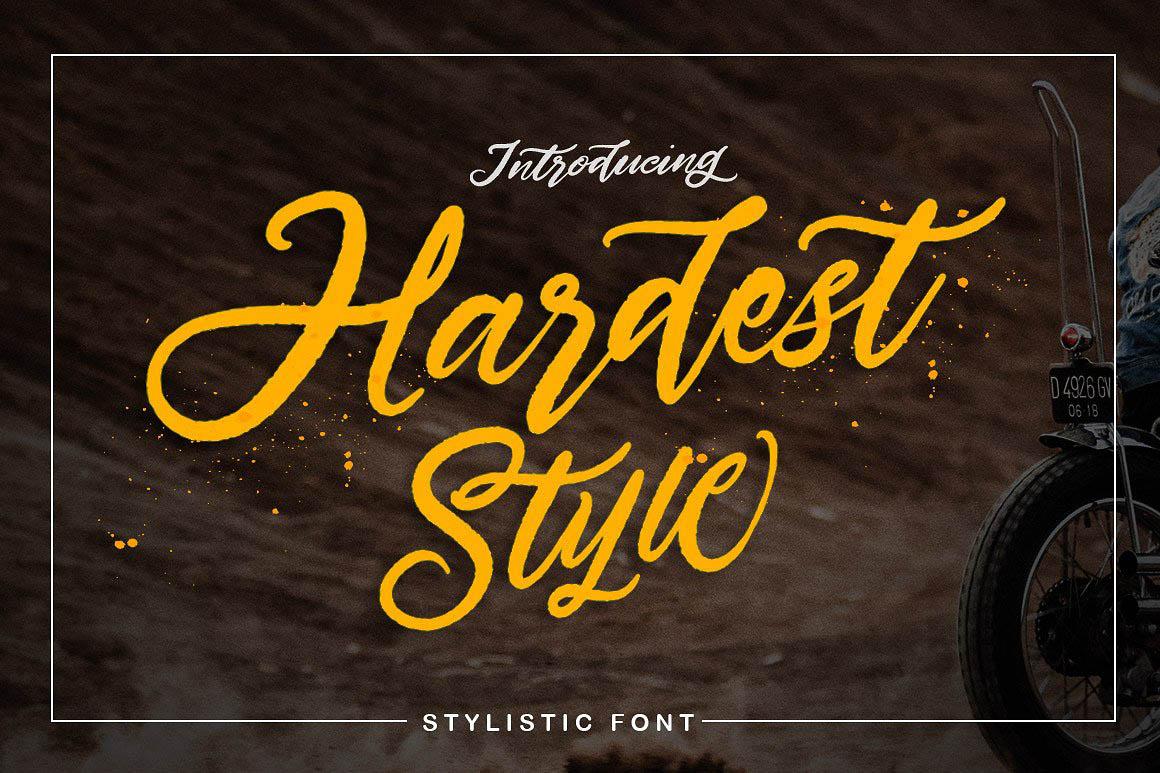 Hardest Style font 1