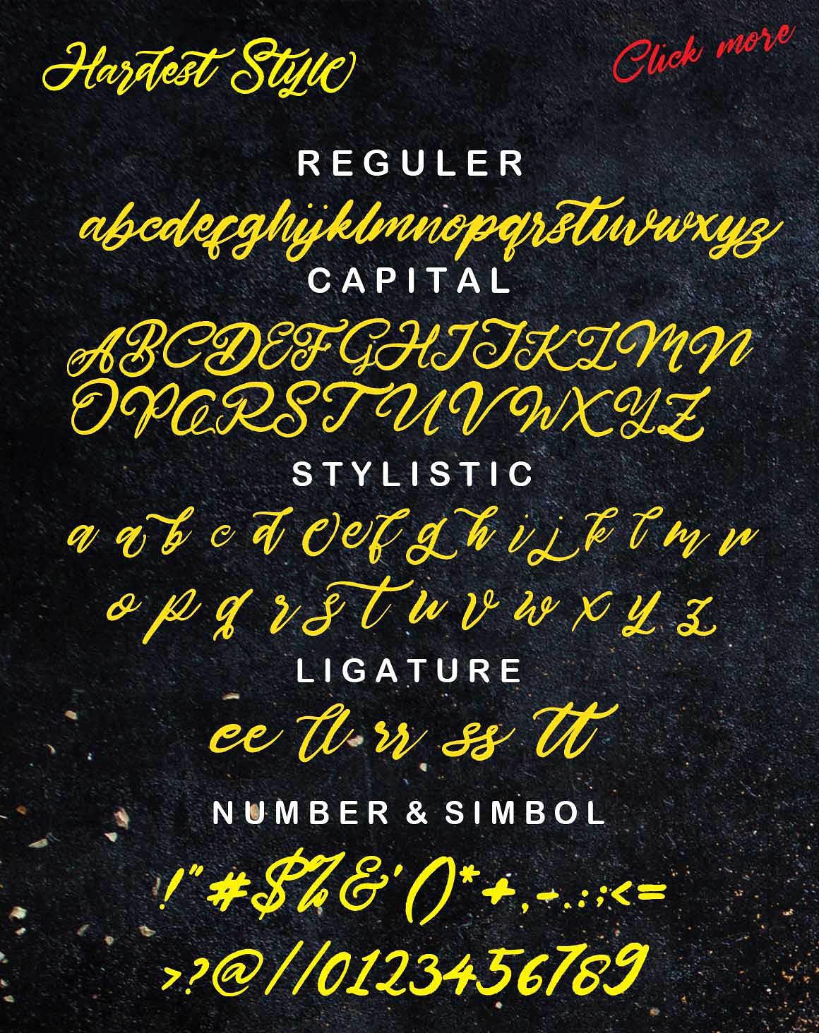 Hardest Style font 3