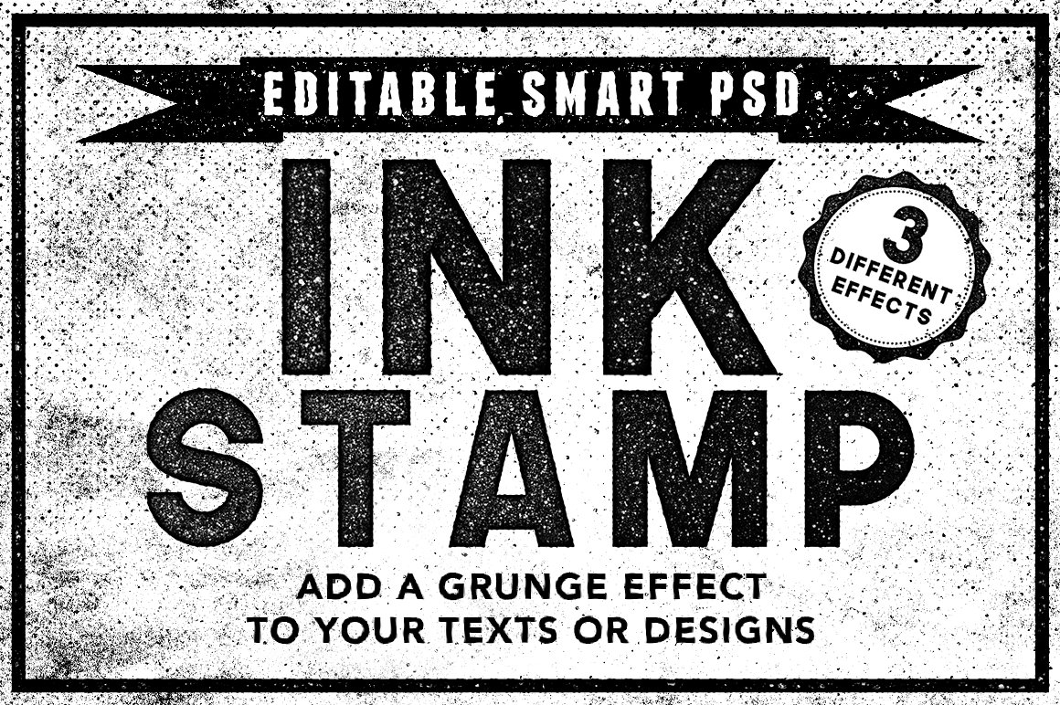 Ink Stamp Effects for Photoshop 1