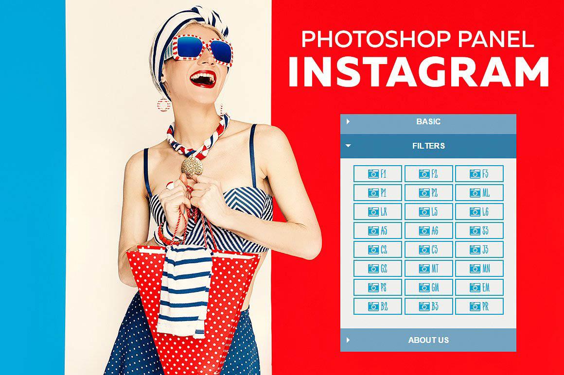Instagram Filters Photoshop Panel 1