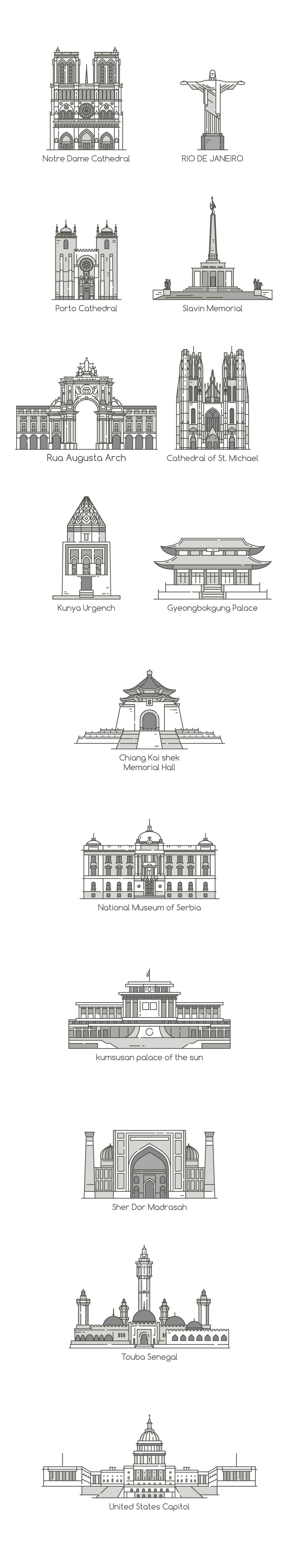 set of house icons , Real estate icons , eps10 vector format