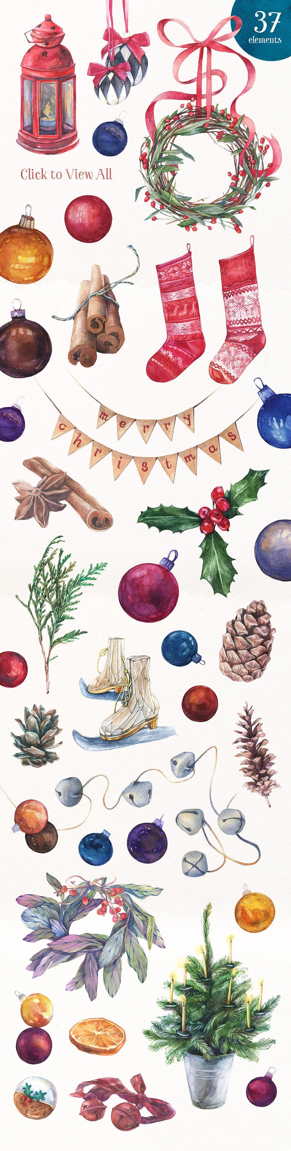 Licorice Christmas Watercolor Kit2
