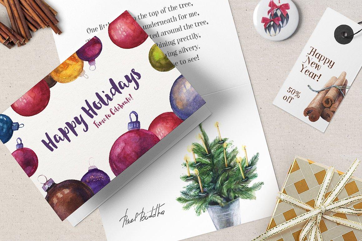 Licorice Christmas Watercolor Kit3