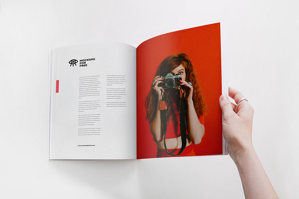 Open Magazine - Free Mockup - Dealjumbo com — Discounted