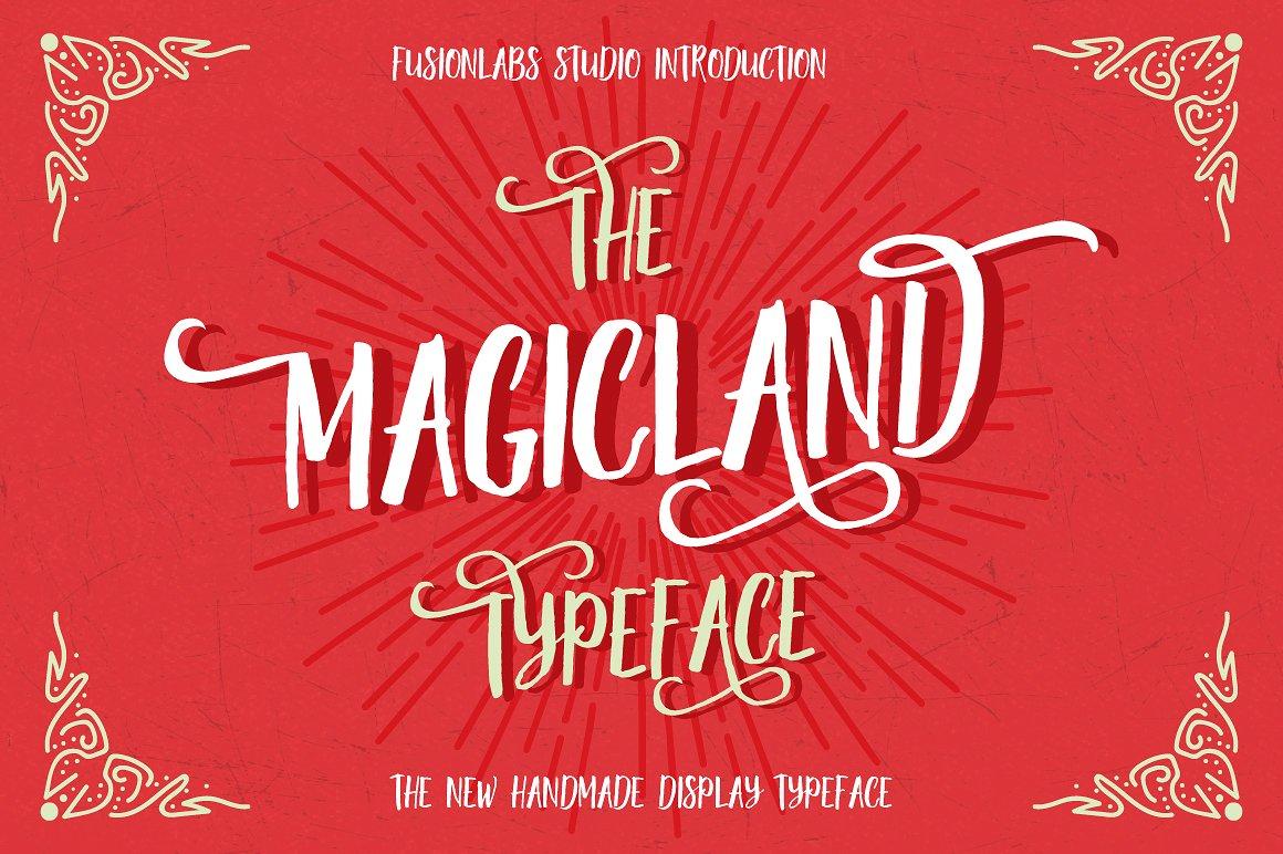 Shirt design fonts - Magicland1 Magicland2 Magicland3