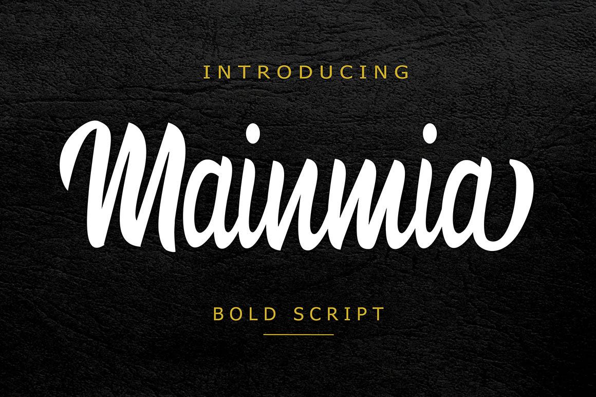 Mainmia-free-font-1