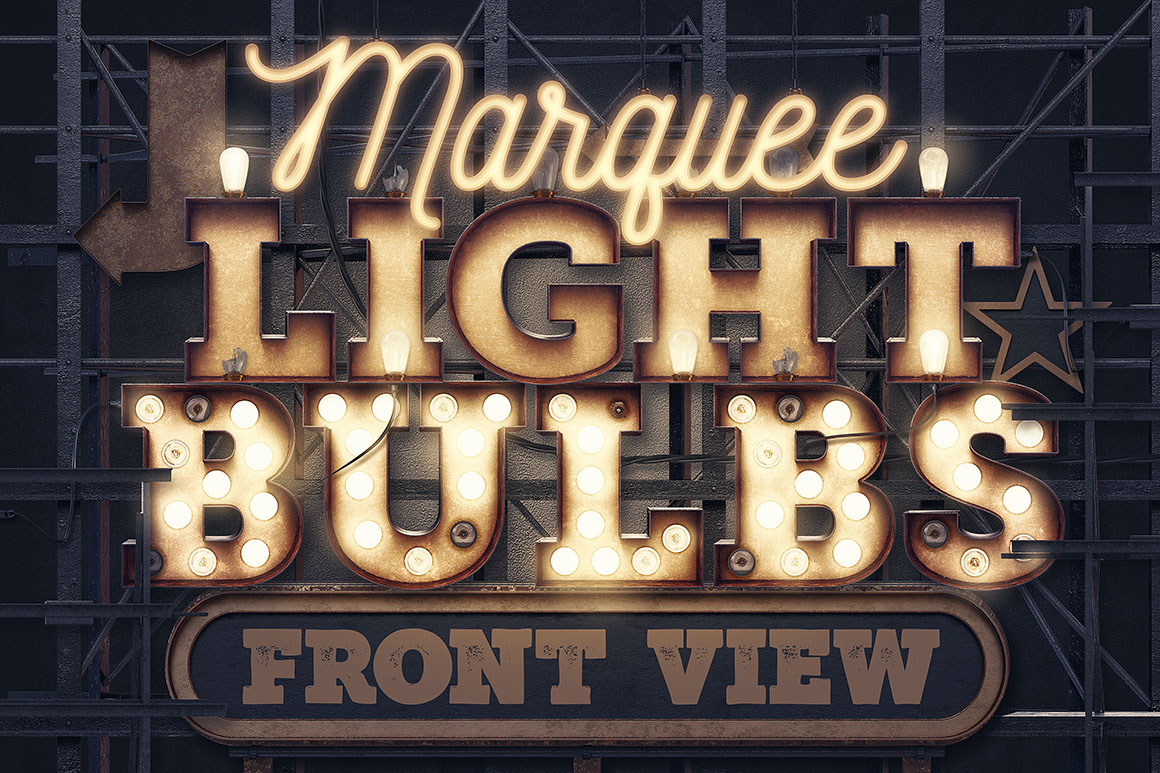 marquee letter font marquee light bulbs front view dealjumbo 23578 | MarqueeLightBulbsFrontView00