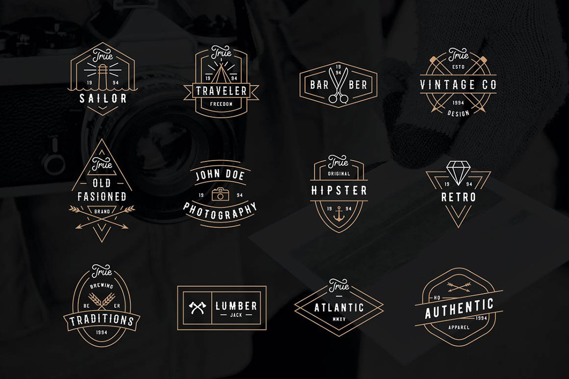 Modern Retro Logo Pack1