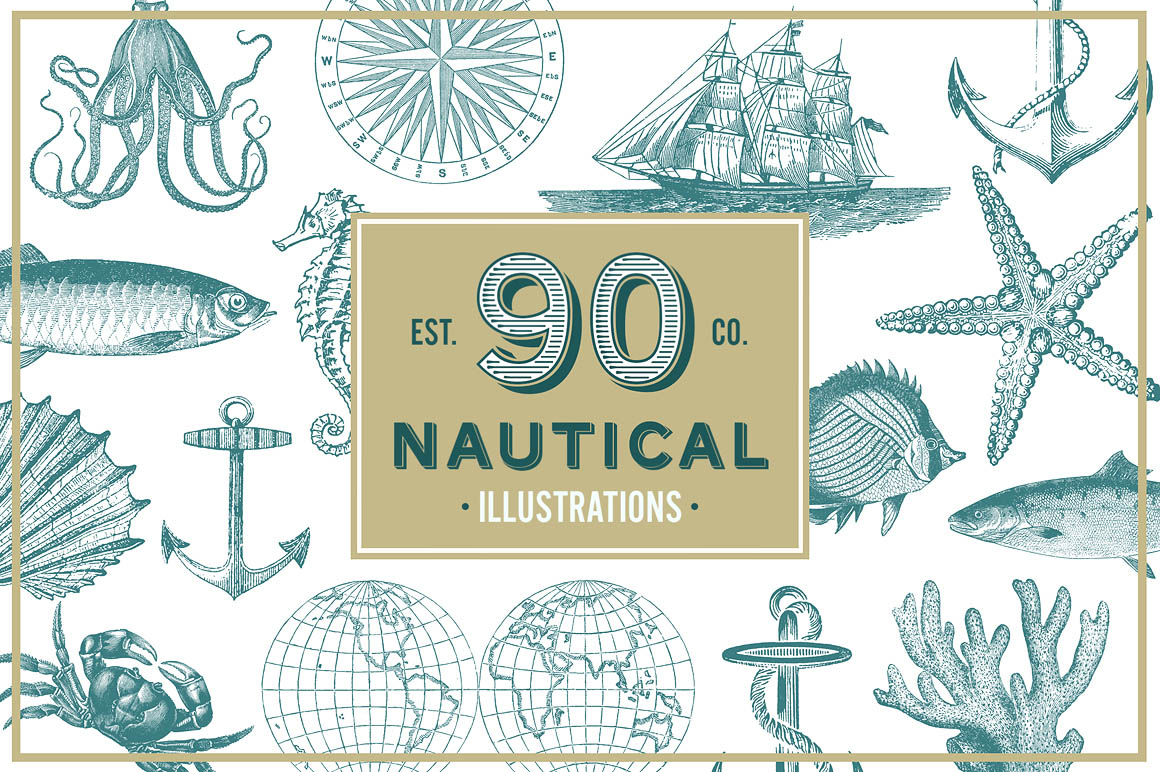 Nautical-Vintage-Vector-Illustrations-01