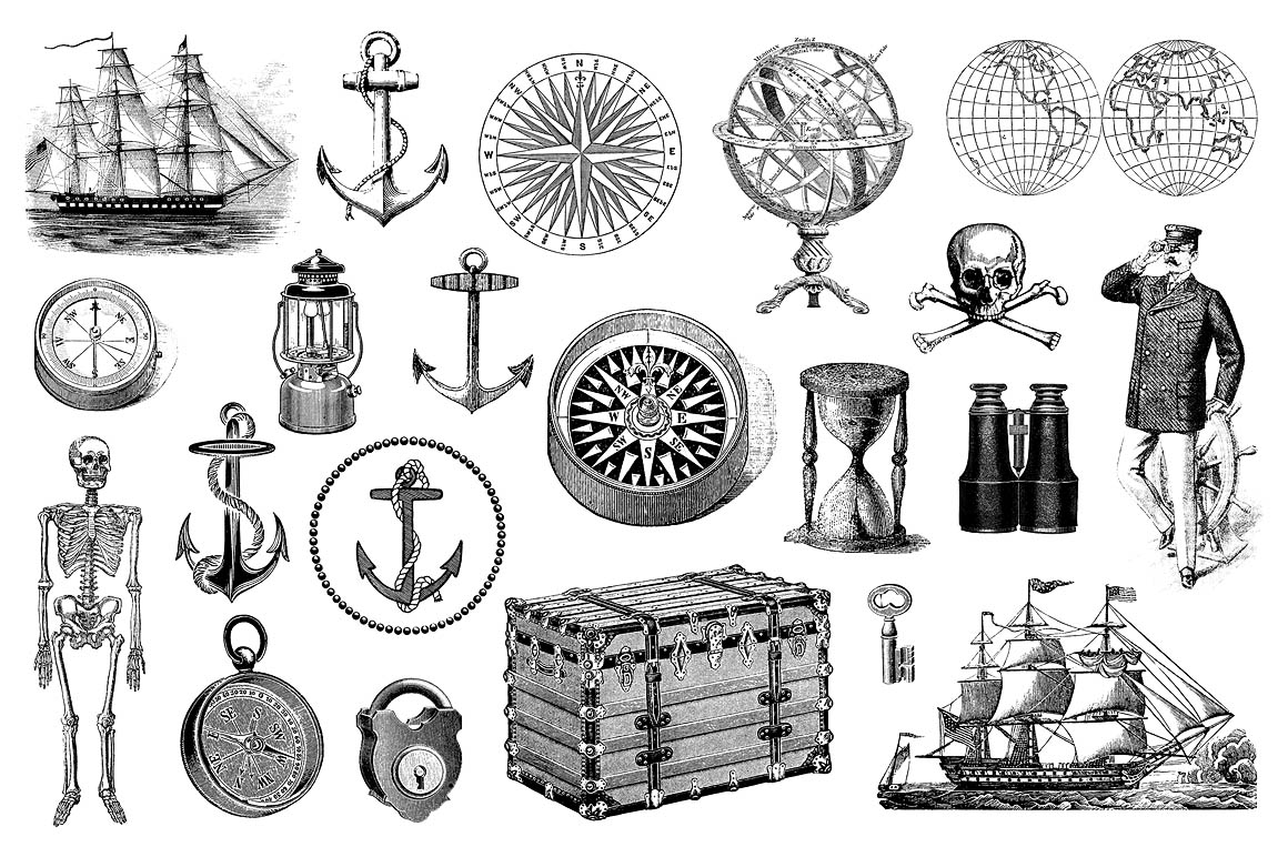 Nautical-Vintage-Vector-Illustrations-03