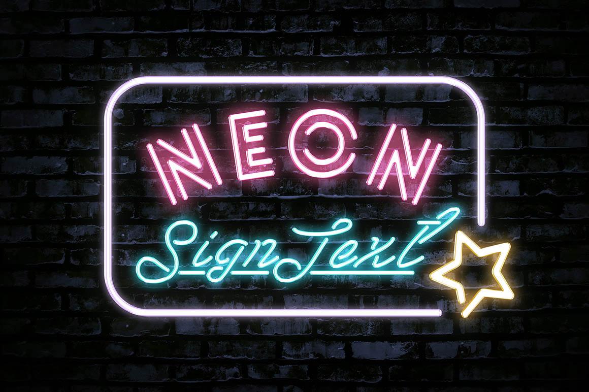 NeonSignTextEffect