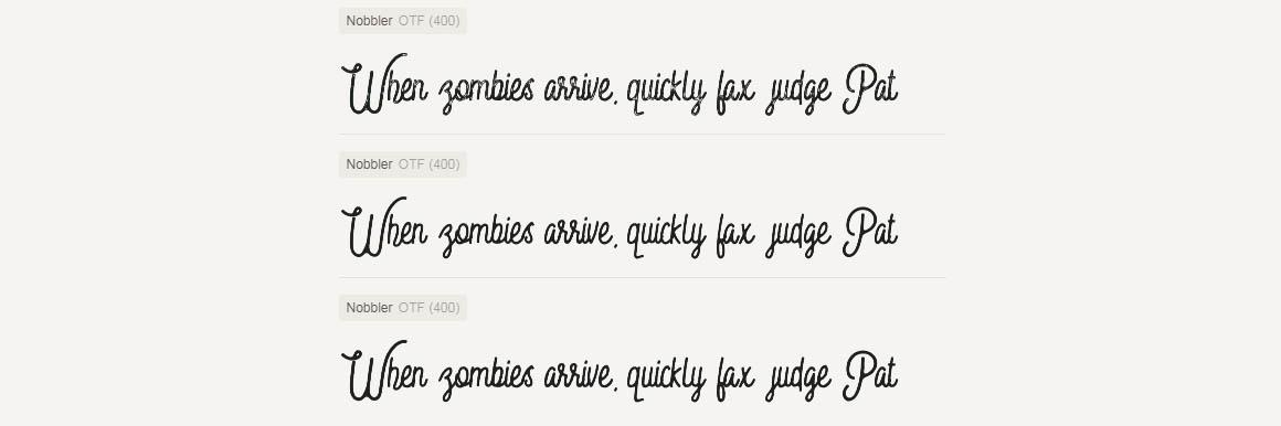Nobbler Typeface 6