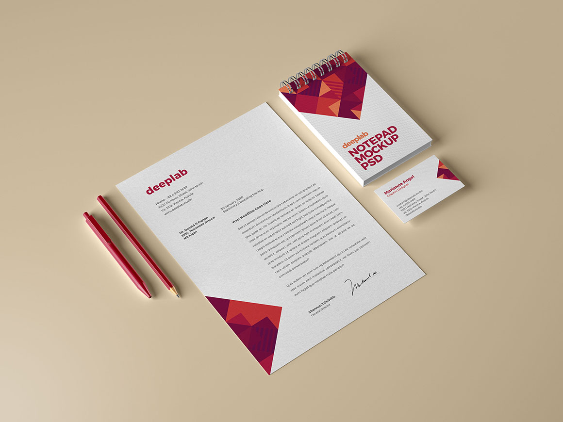 Branding mockup with editable background color