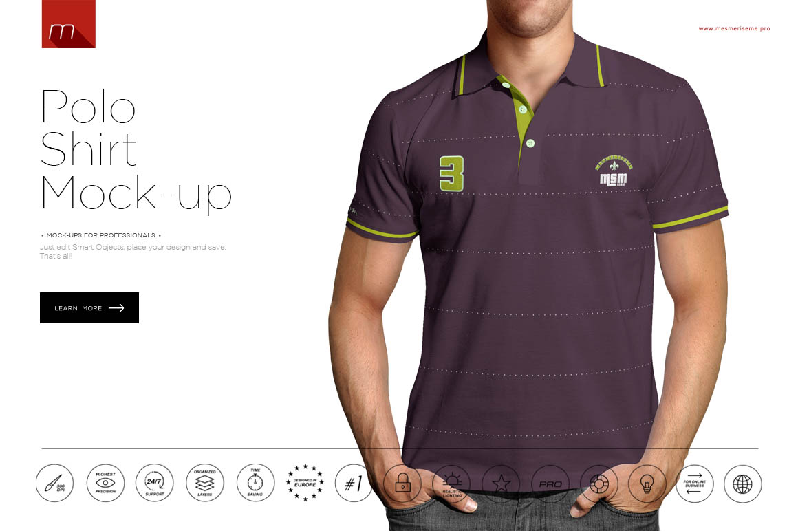 How to use graphic templates to make your business stand for Free polo shirt mockup