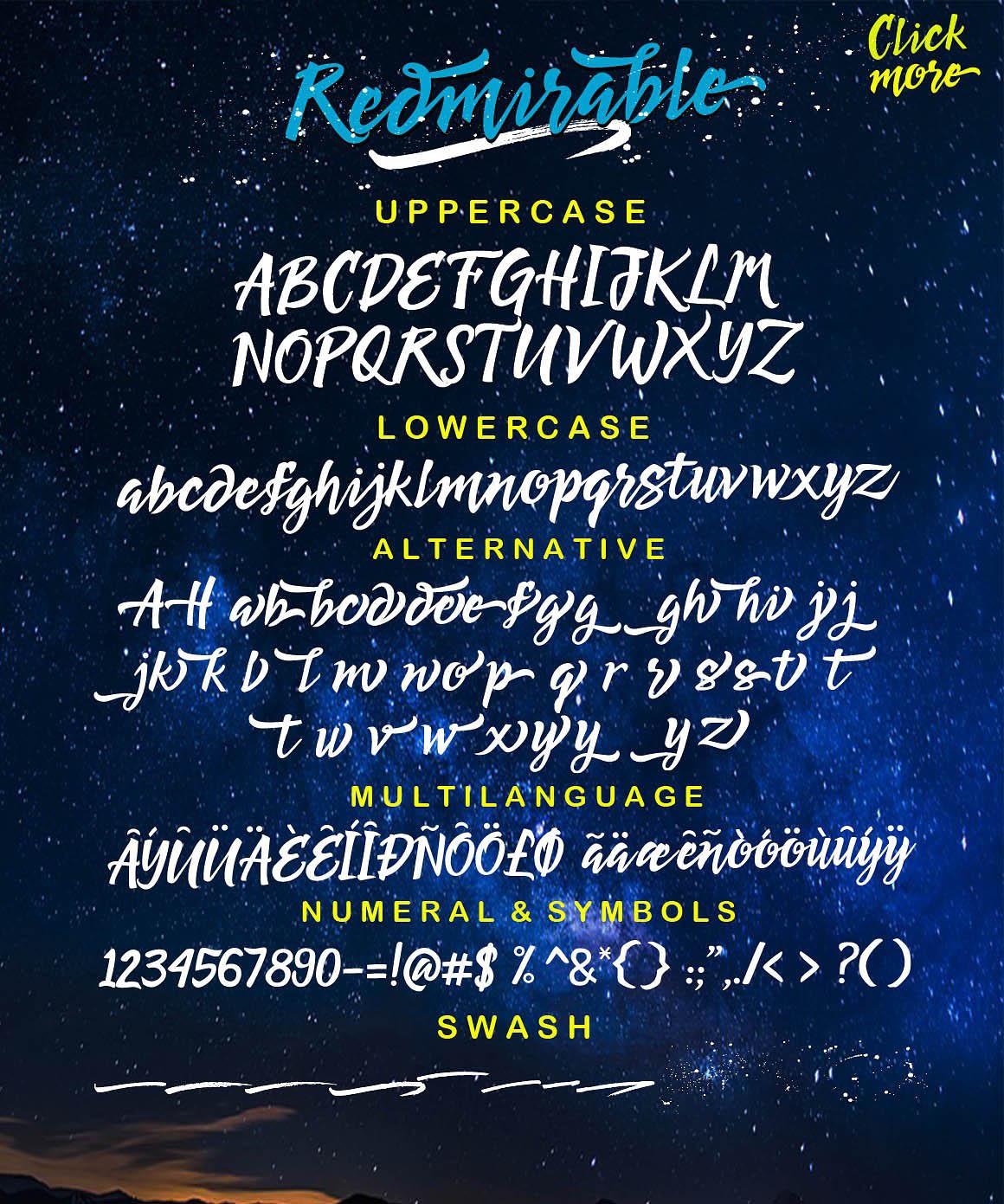 Redmirable font 3