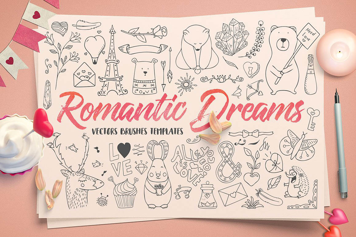 Romantic Dreams Graphic Pack1