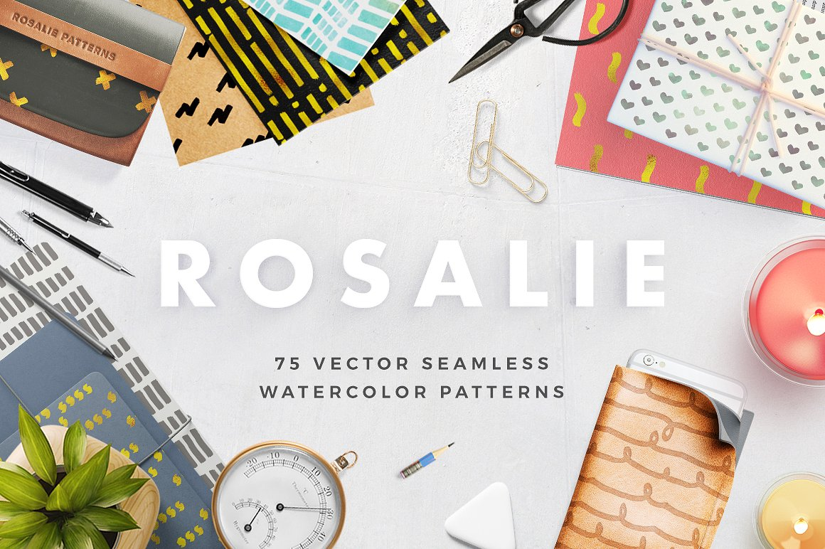 Rosalie Seamless Watercolor Patterns1