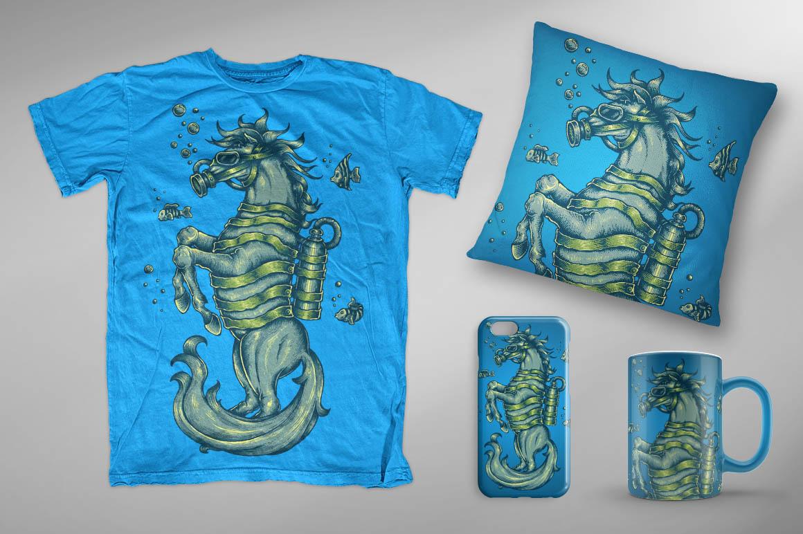 Sea Horse - Mockup