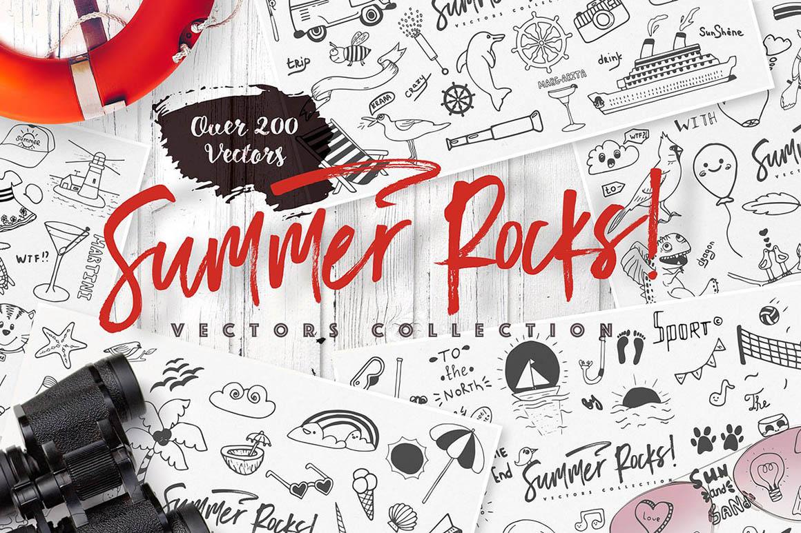 Summer Rocks! Vectors Collection1