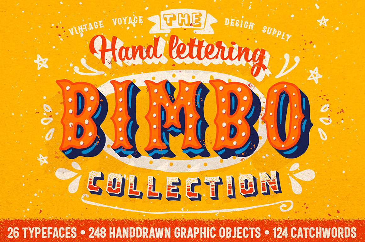 Circus Style Hand Lettering Kit/Set - $6
