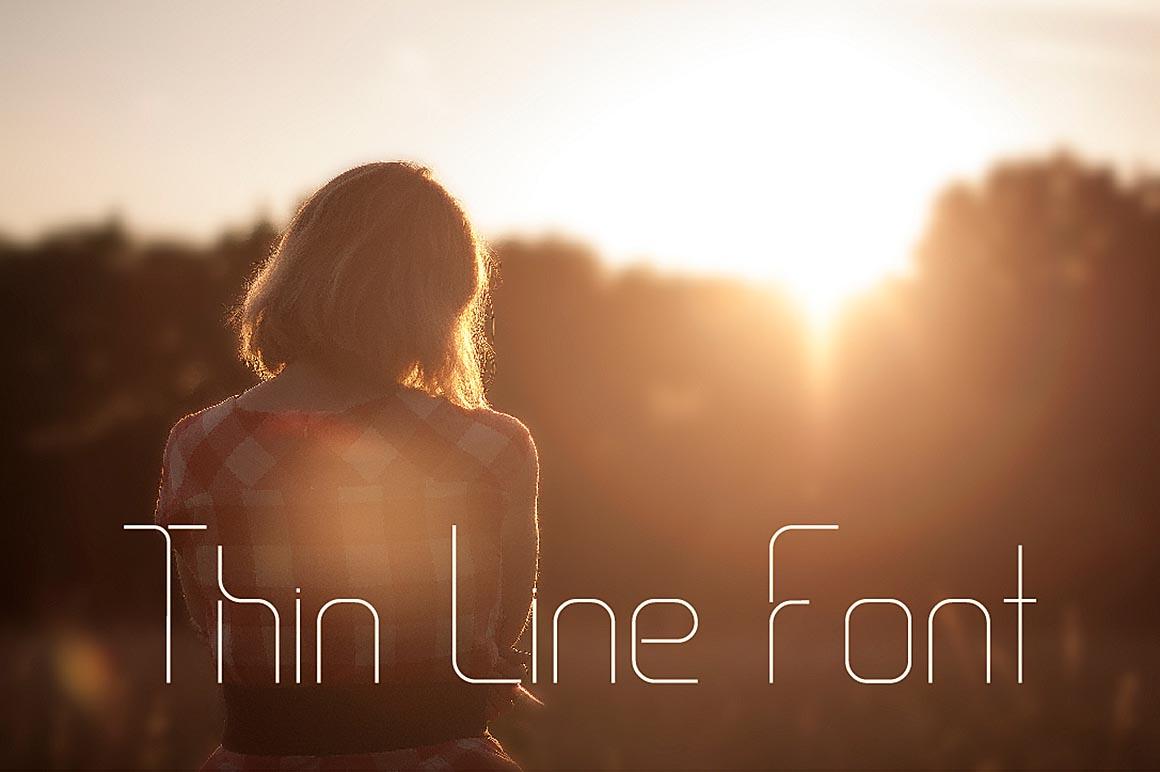 Thin_Line_Font