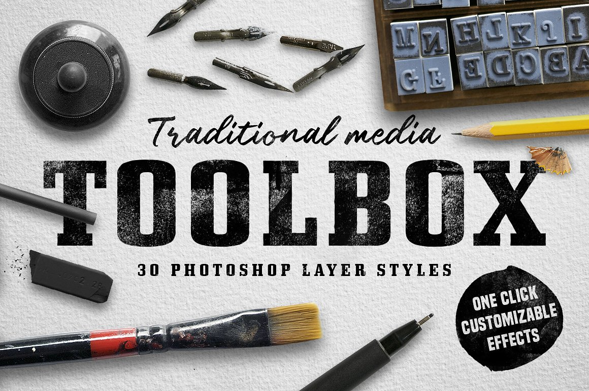 Traditional media art layer styles 1