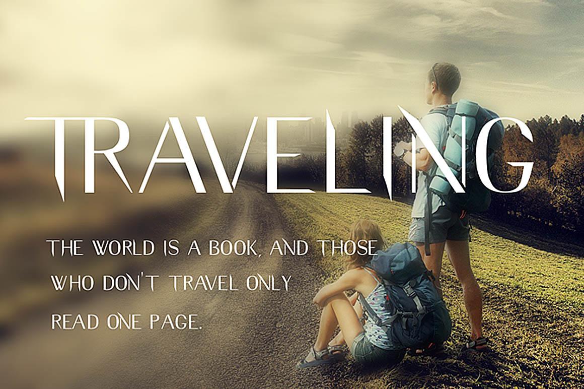 Traveling-free-font-1