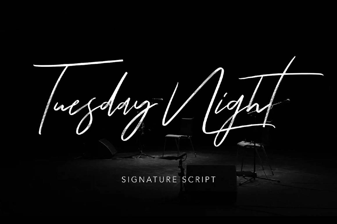 Tuesday-Night-free-font-1