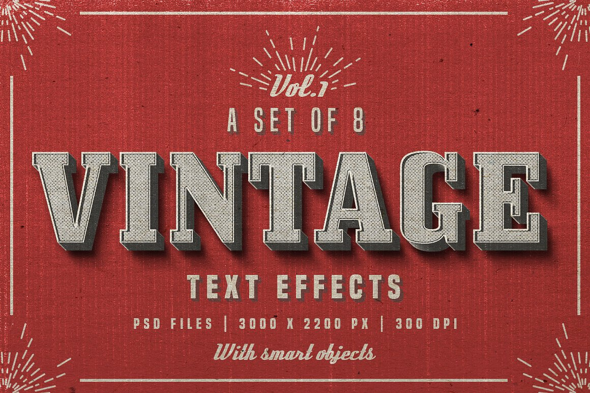 Vintage Photoshop text effects 1