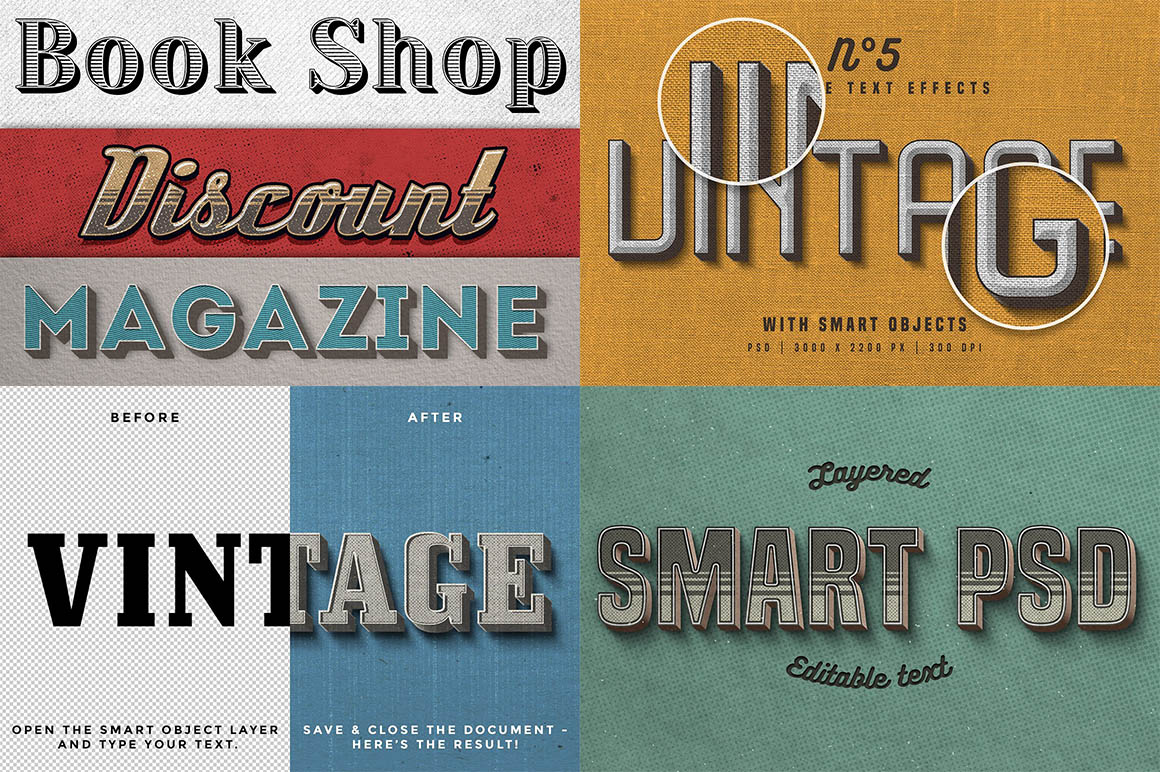 Vintage Photoshop text effects 2