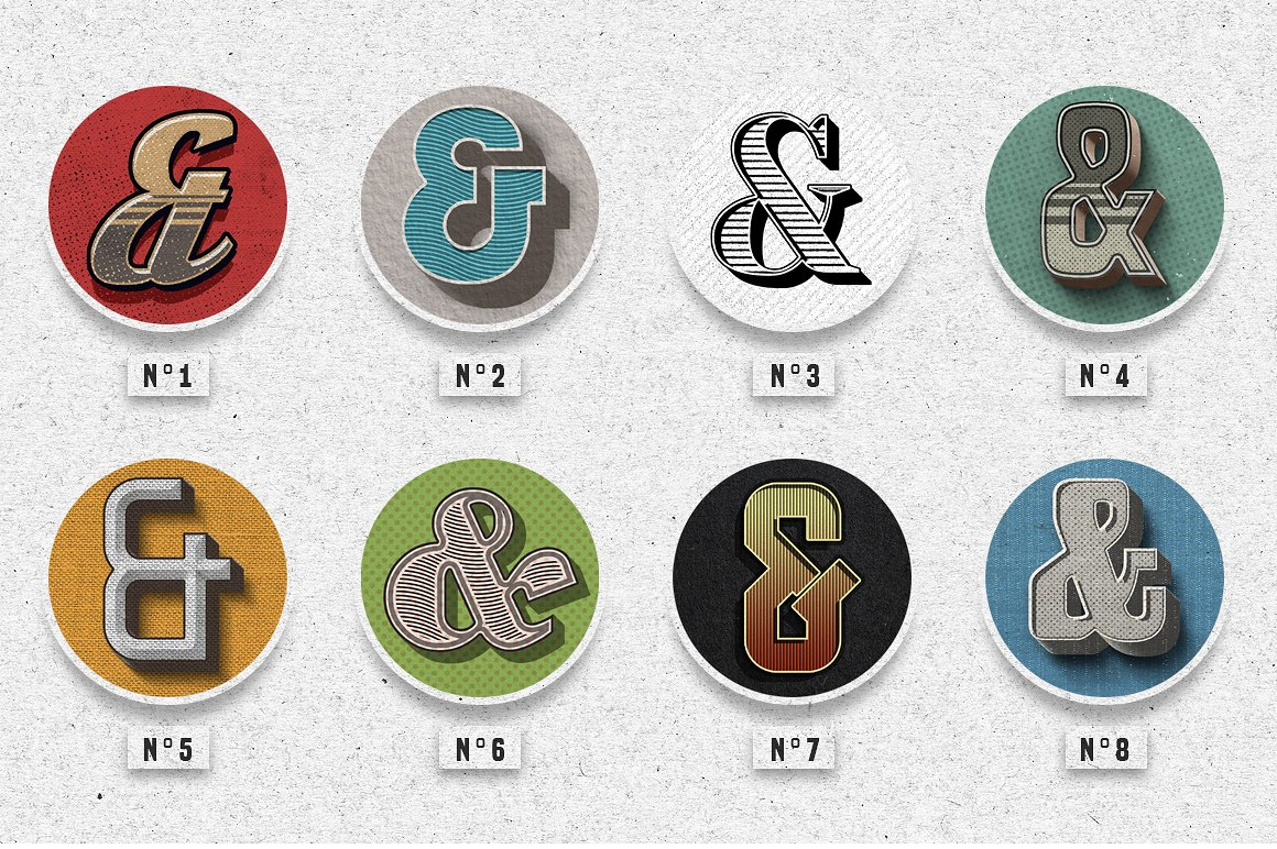 Vintage Photoshop text effects 4