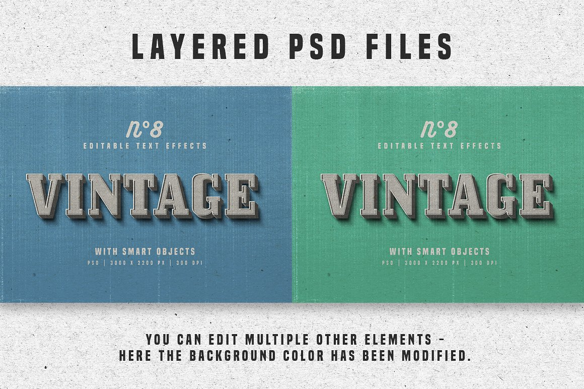 Vintage Photoshop text effects 6