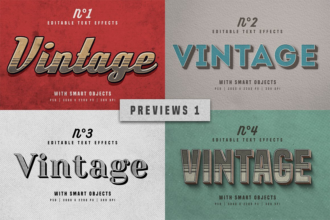 Vintage Photoshop text effects 8