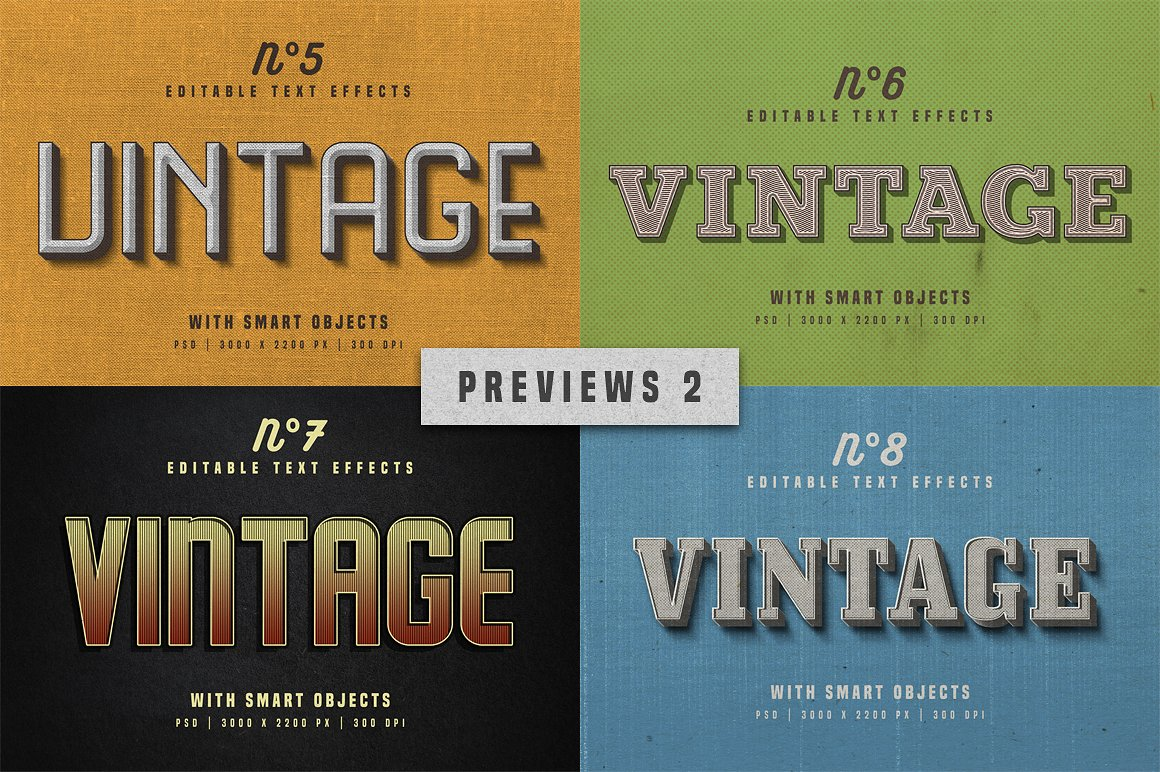 Vintage Photoshop text effects 9