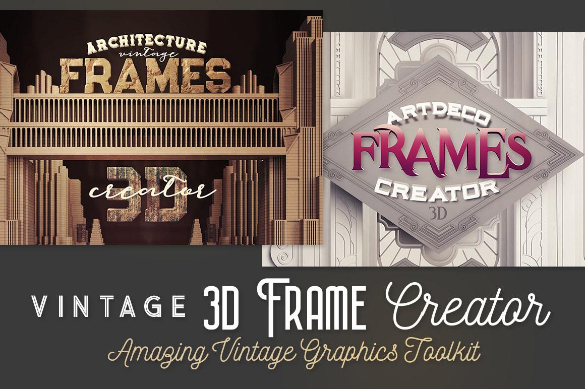 Art Deco Vintage 3D Frame Creator ► $4