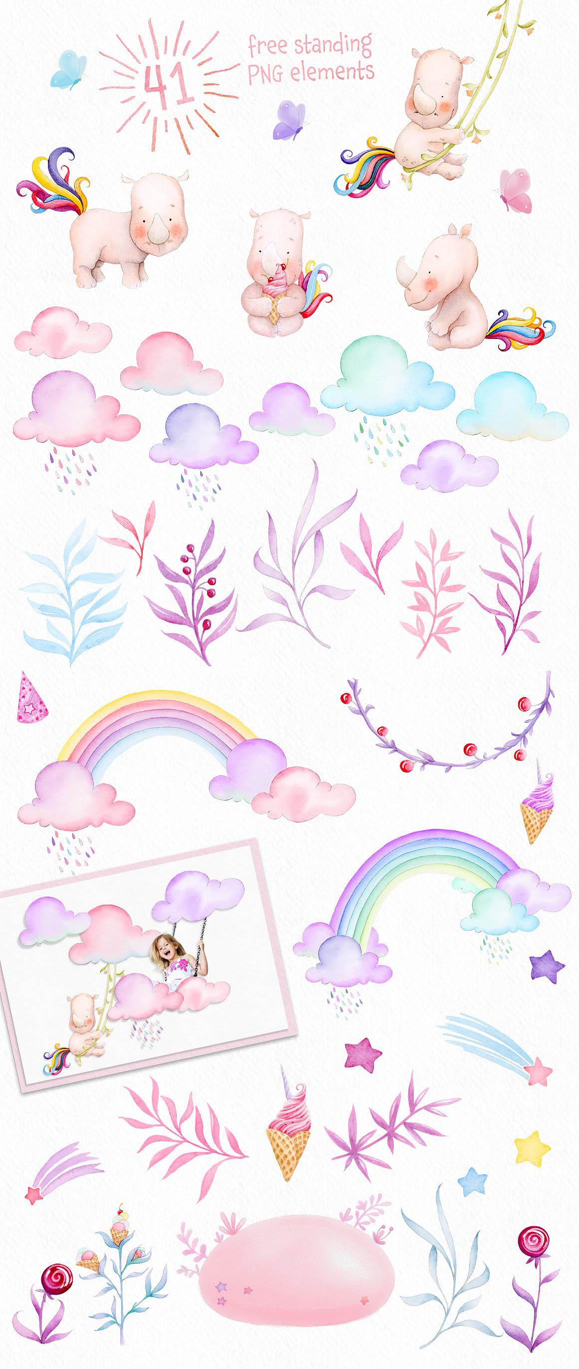 Watercolor Unicorn 5