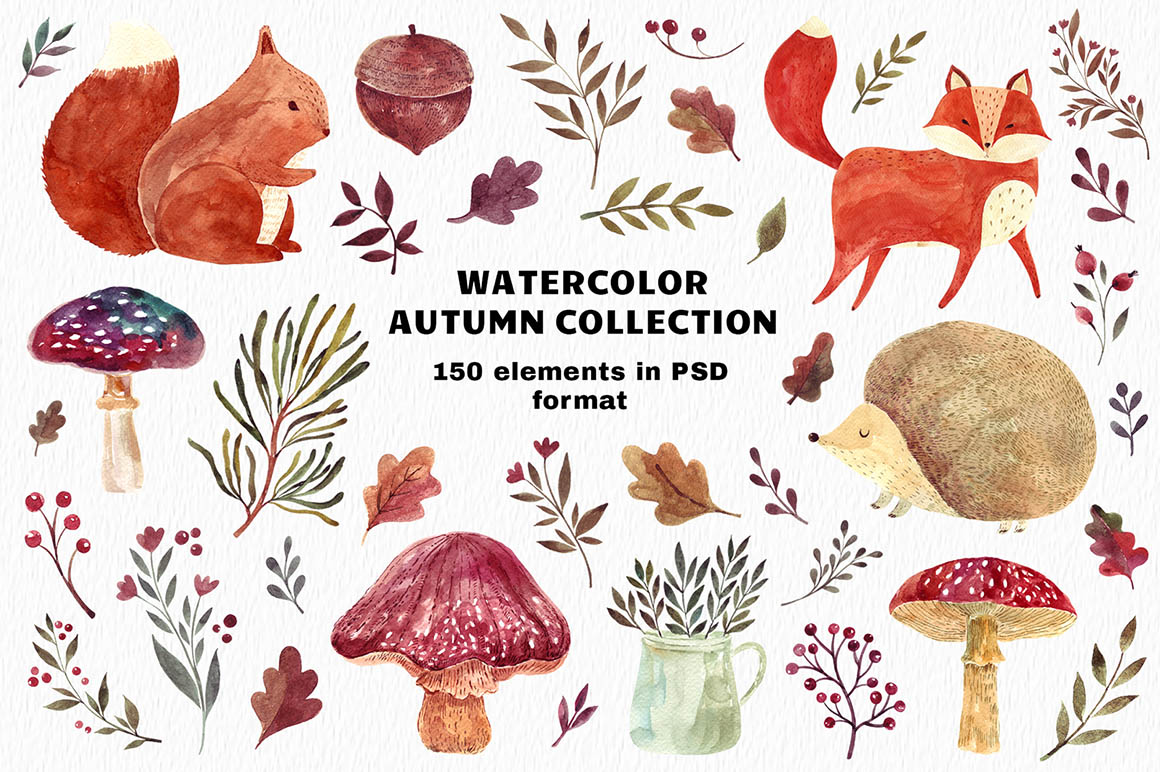 Watercolor autumn 1