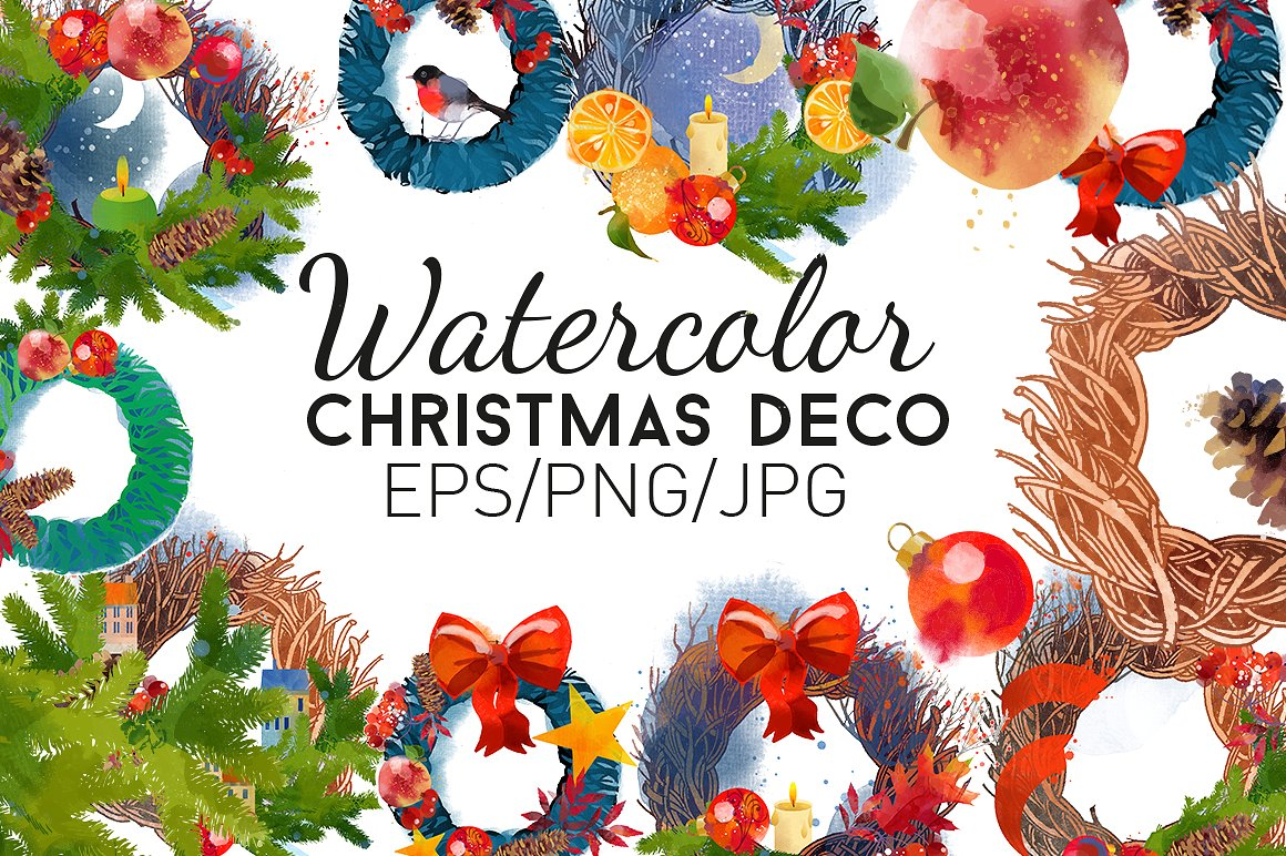 Watercolor-christmas-deco-1