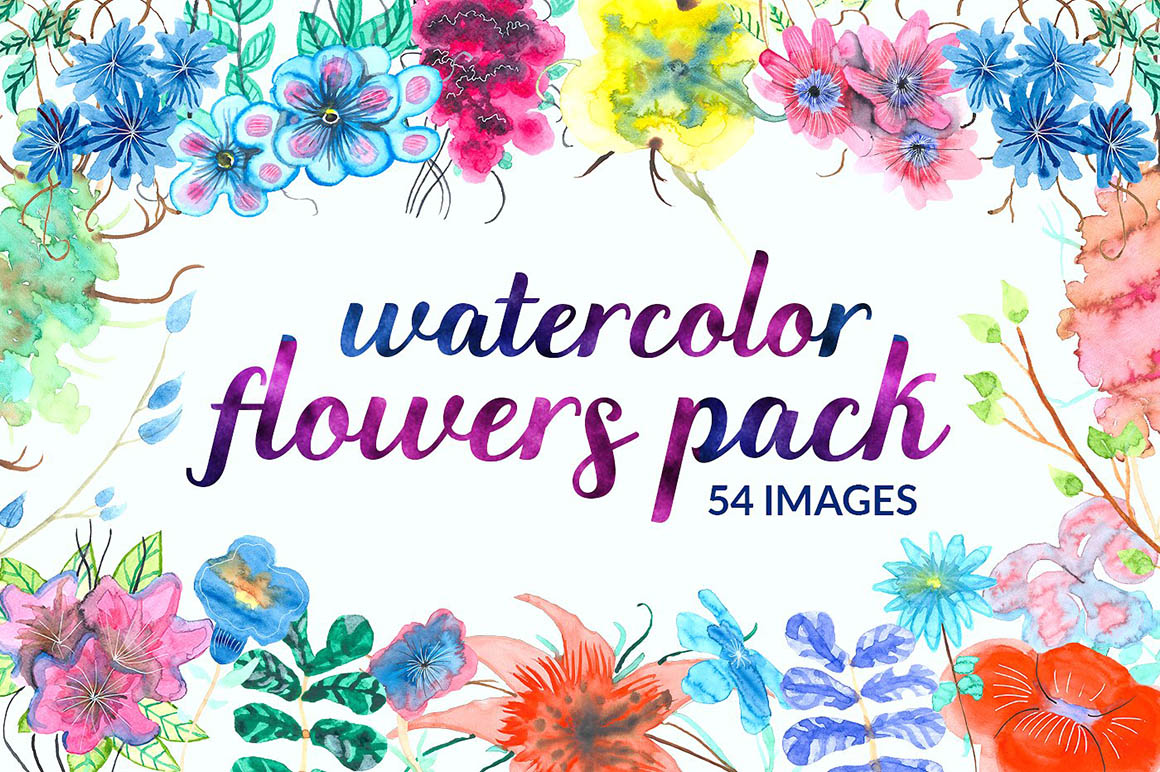 Watercolor flowers1